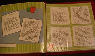Scrapbook letter