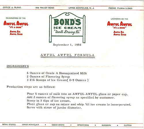 025 Awful Awful recipe from Bonds