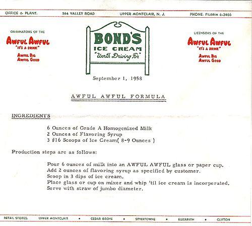025 Awful Awful recipe from Bonds